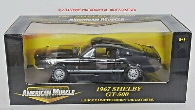 Limited Edition Rare 1:18 Ertl American Muscle 1967 Shelby GT500 Carroll Black