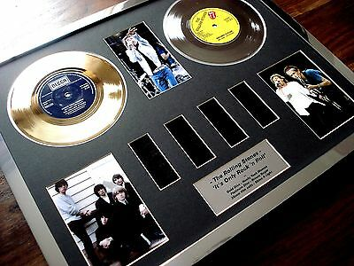 The Rolling Stones Gold Platinum Disc Record Film Cell Montage Award Shine Light