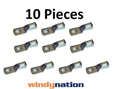 (10) 4/0 GAUGE AWG X 3/8 in TINNED COPPER LUG BATTERY CABLE CONNECTOR TERMINAL