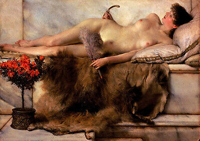 Art Oil painting Lawrence Alma-Tadema - The Tepidarium Young girl after bathing