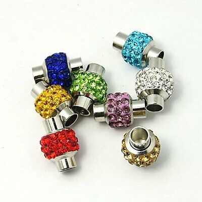 5mm I.D Rhinestone in Clay Magnetic Clasp 15.5mm x 11mm with Glue in Ends