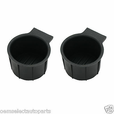 OEM NEW 2011-2014 Ford F-250 Cup Holder Rubber Insert PAIR SET 2 - Full Console