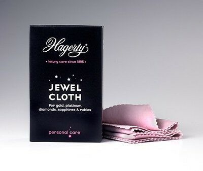 Hagerty Jewel polishing cloth cleaner for gold jewellery & gem cloth