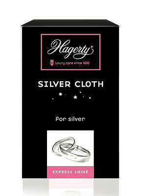 Hagerty Silver polishing cloth cleaner for silver jewellery & gems cloth