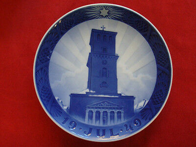 """1949 Royal Copenhagen Rc Christmas Plate  """"  Church Of Our Lady  """""""
