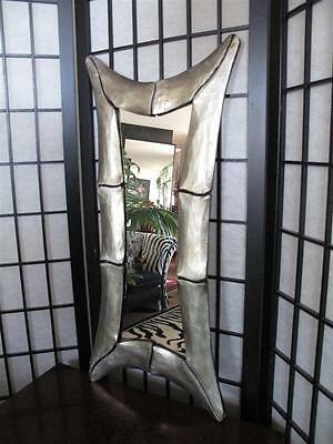 Vintage Chinese Bamboo Style Wooden Framed Mirror  …beautiful... JUST REDUCED!!!