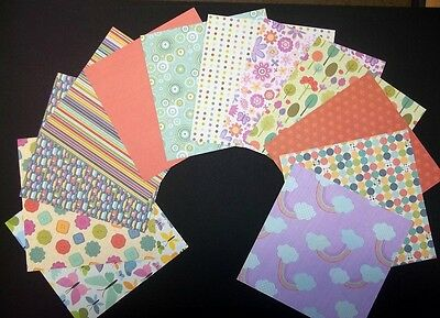 "*PLAYTIME*  Scrapbooking/Cardmaking Papers x 12  *15cm x 15cm - (6"" x 6"")"