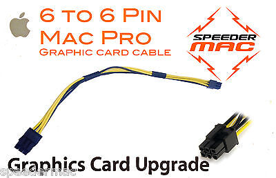  Mac Pro Graphic videocard power cable  6/6 pin PCI-E express connector adapter