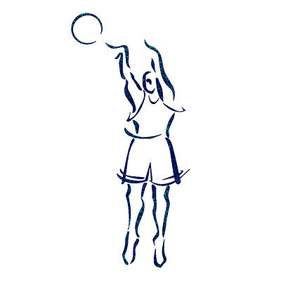 """STENCILS FOR Airbrush Painting TEMPLATE Sports BASKETBALL PLAYER 11.6""""x8.26"""""""