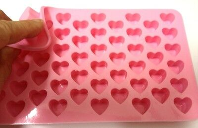 MINI HEARTS 55 Cavities Silicone Mould: Soap Ice Chocolates tray mold