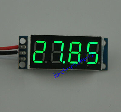3 line 4 Digital Voltmeter DC 0-50V Red Blue Green Yellow LED Battery Monitor
