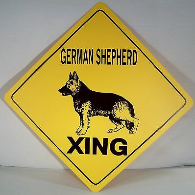 """GERMAN SHEPHERD XING"" Indoor/Outdoor Dog Crossing 12"" Warning Sign! more Breeds"