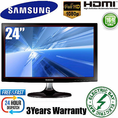 "Brand New Samsung  24"" Inch LED Monitor VGA HDMI Full HD 1080P 3 Years Warranty"
