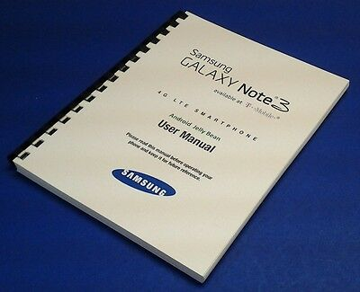 Samsung Galaxy Note 3 Smartphone User Manual for T-Mobile (model SM-N900T)