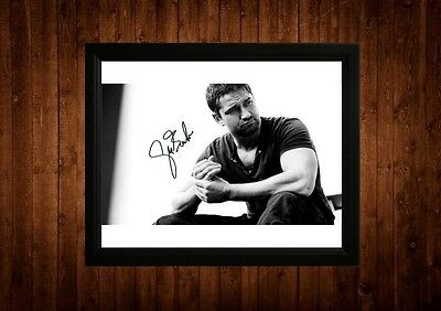Gerard Butler Signed Framed Pp A4 Print Gift Ideas 300 Ps I Love You