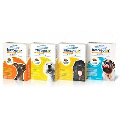 Interceptor Spectrum for Dogs Chewable Wormer 6 Pack - All Sizes Available