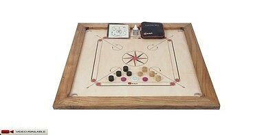 "New Tournament Carrom Board Carrom Set Board 35 x 35""- 12mm playing surface"