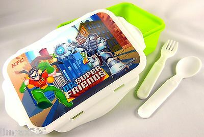 Dc Super Friends Power Lunch Box 3D Lenticular Robin And Cyborg - Limited