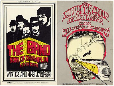 """THE BAND JEFF BECK GROUP  Fillmore West """"JOINED"""" Mailer (Apr. 10th 1969)"""