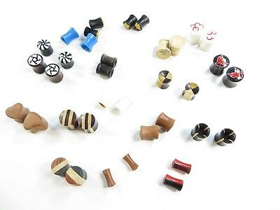 wholesale Bali handcrafted 10 pairs small gauge ear plugs ear tunnels earlets