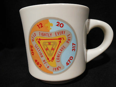 1985 Section Ne-6 Conclave Ceramic Mug Order Of The Arrow Bsa Fast Free Shipping