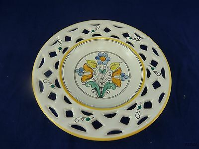 Hungary Decorative Pottery Wall Hanging Floral Plate