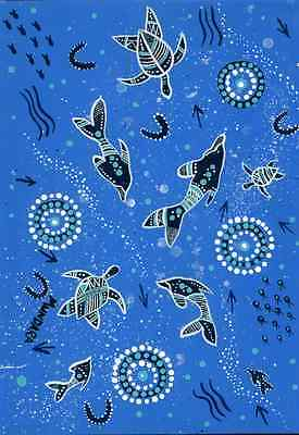 2 Sheets Oceana Gift Wrapping Paper