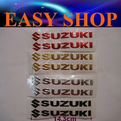 3D SUZUKI Sticker Decal Badge Emblem Logo Bike Quad Motorcycle Petrol Fuel Tank