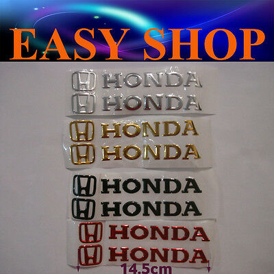 3D HONDA Sticker Decal Badge Emblem Logo Bike Car Motorcycle Petrol Fuel Tank