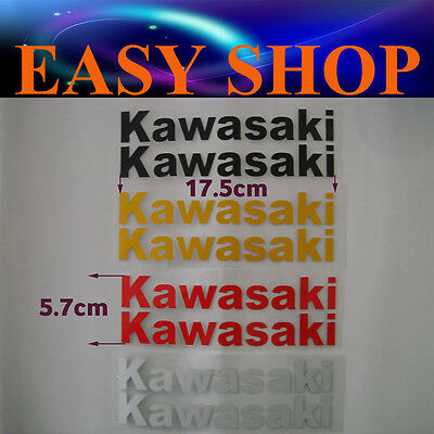KAWASAKI Sticker Decal Badge Emblem Logo Bike Quad Motocross Petrol Fuel Tank