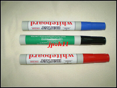 3 Color Black/Red/Blue Whiteboard Bright Marking Painters Marker Pen