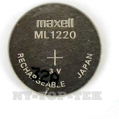New 3V Rechargeable Cmos Bios Battery Lithium-Ion For  Maxell Ml1220 Ml 1220