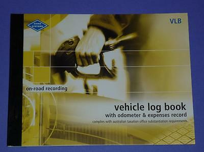 Zions Systems Vehicle Log Book with Odometer & Expenses Record VLB