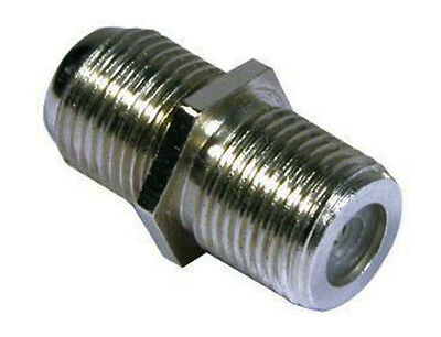 50 X F plug barrel joiner coupler coax 50 pack first class post