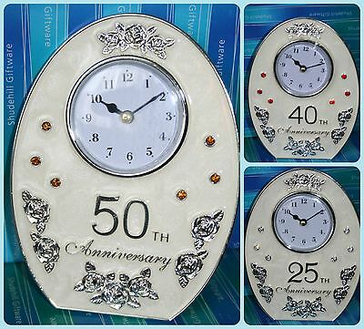 25th 30th 40th 50th Wedding Anniversary Clock Gift Present