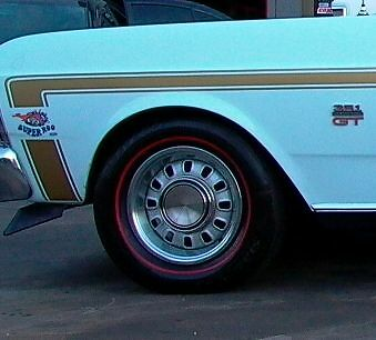 Ford Falcon Xw Gt Gold Stripe Kit Suit Sedan With Superoo Decal