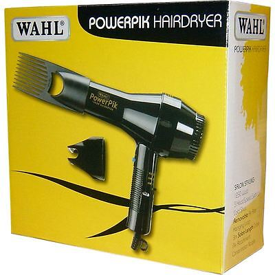 Wahl ZX-052 Light Weight Power Pik 1250W Turbo Hair Dryer ** UK PRODUCT **