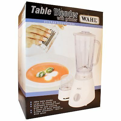 Wahl ZX805 Table Electric Kitchen Food Blender 1.5l Clear Jug Stainless Blades