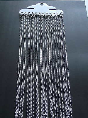 """UK Jewellery Wholesale 12 X 16"""" Silver Link Curb Necklace Pendant Locket Chains"""