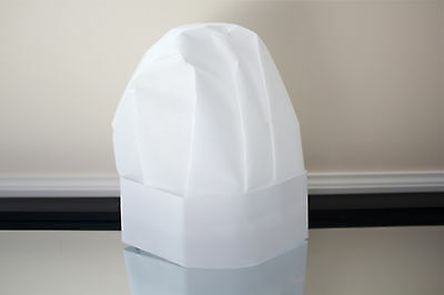 Disposable Paper Chef Hats 15 Pack Flared Top Free Shipping
