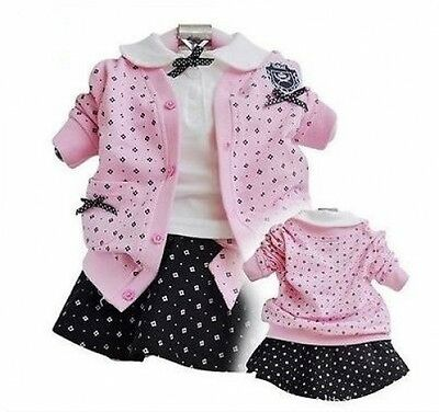 Brand New With Tags Girls 3 Piece Outfit  Mini Skirt,Top,Cardigan 2-6yearsSKU020