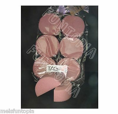 TAG Body Art 12 Pack Sponge Quality Face and Body Art Sponges Make up