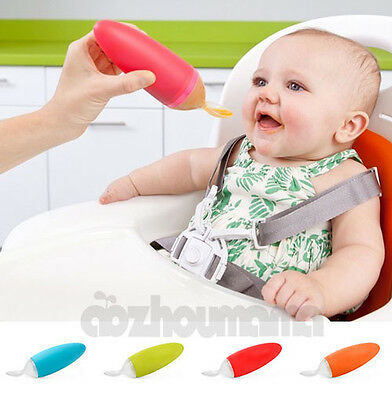 Boon Squirt Baby Food Dispensing Feeding Spoon 6 Optional Colors BPA Free