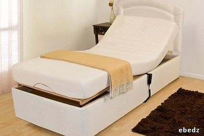 Single 3ft Electric adjustable bed Incl Memory & Coolmax Mattress. FREE DELIVERY
