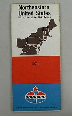 Enco Oil Company Eastern U S Map PicClick - Us road map company