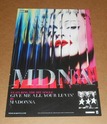 Madonna Give Me All Your Luvin' Promo Original 2012 Poster