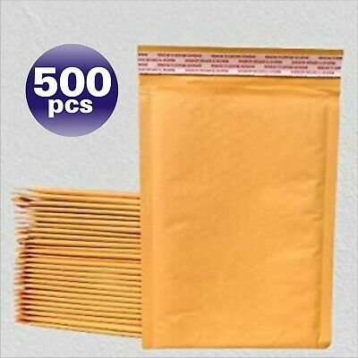 Yens® 500 #0 Kraft Bubble Padded Envelopes Mailers 6.5 X 10 fit DVD CD Case