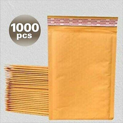 Yens® 1000 #0 Kraft Bubble Padded Envelopes Mailers 6.5 X 10 fit DVD CD Case