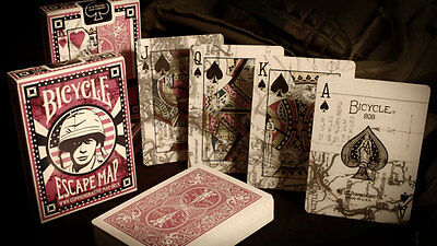 ESCAPE MAP deck by USPCC playing cards bicycle world war 2 camp secret historic