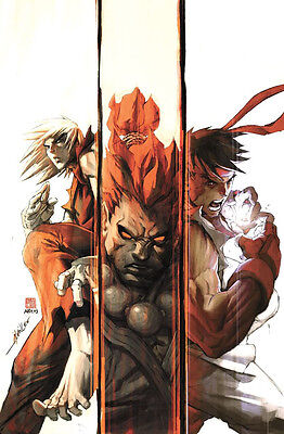 Street Fighter -  Ken Akuma Ryu ( 22 x 34 inch ) Glossy Poster - FAST SHIPPING